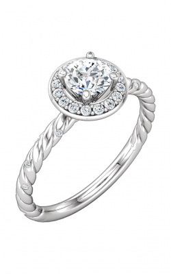 Sharif Essentials Collection Halo Engagement Ring 122674 product image