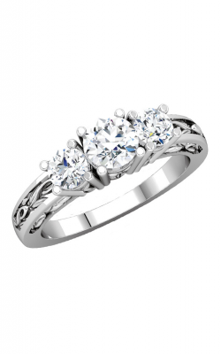 Sharif Essentials Collection Three Stones Engagement Ring 67585 product image