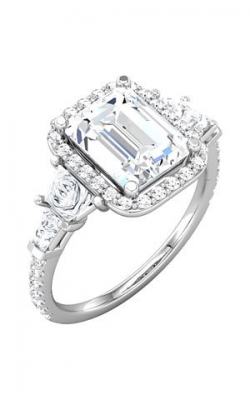 Sharif Essentials Collection Three Stones Engagement Ring 68905 product image