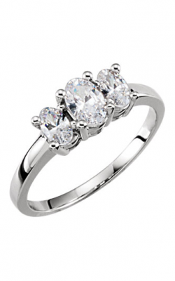 Sharif Essentials Collection Three Stones Engagement Ring 120240 product image