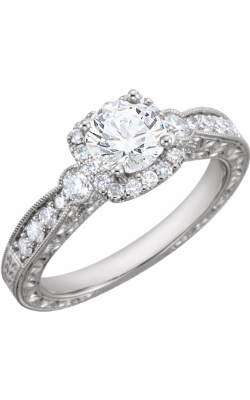 Sharif Essentials Collection Halo Engagement Ring 651713 product image