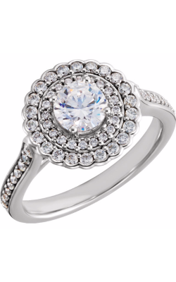 Sharif Essentials Collection Halo Engagement Ring 122483 product image