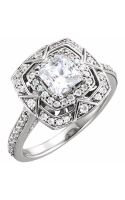 Sharif Essentials Collection Halo Engagement Ring 122482 product image