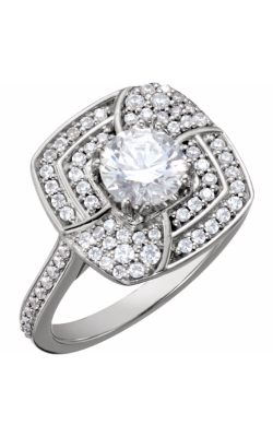 Sharif Essentials Collection Halo Engagement Ring 122450 product image