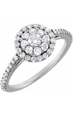 Princess Jewelers Collection Halo Engagement Ring 122023 product image