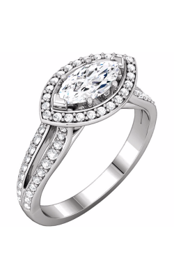 Sharif Essentials Collection Halo Engagement Ring 122040 product image