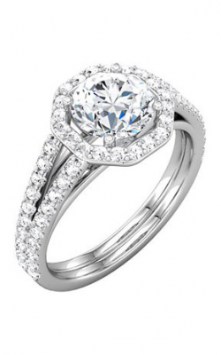 Sharif Essentials Collection Halo Engagement Ring 121881 product image