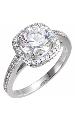 Princess Jewelers Collection Halo Engagement Ring 121619 product image