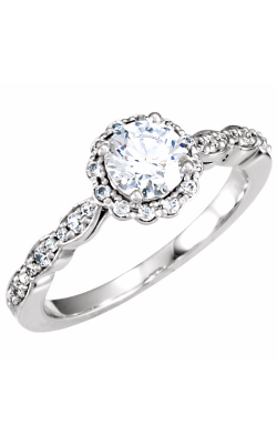 Sharif Essentials Collection Halo Engagement Ring 121589 product image