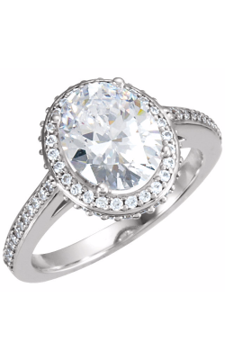 Princess Jewelers Collection Halo Engagement Ring 121627 product image