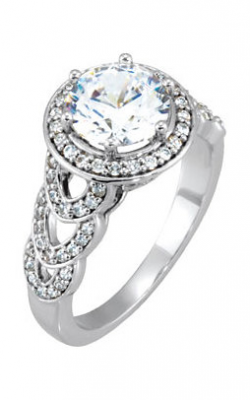 DC Halo Engagement Ring 121674 product image
