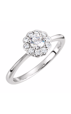 Sharif Essentials Collection Halo Engagement Ring 121703 product image