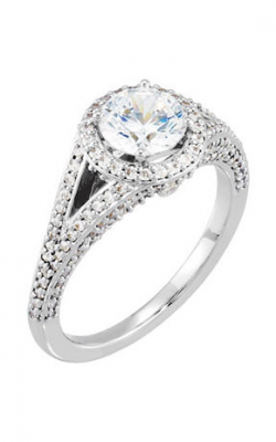 Sharif Essentials Collection Halo Engagement Ring 121657 product image