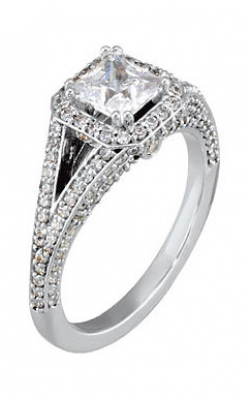 DC Halo Engagement Ring 121686 product image
