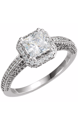 Princess Jewelers Collection Halo Engagement Ring 121618 product image