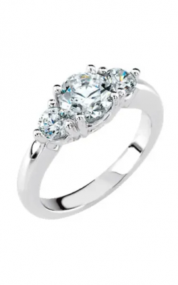 Sharif Essentials Collection Three Stones Engagement Ring 12649 product image