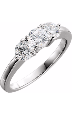 Princess Jewelers Collection Three Stones Engagement Ring 120224 product image