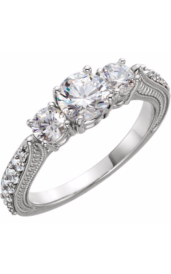 Sharif Essentials Collection Three Stones Engagement Ring 122352 product image