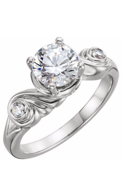 Sharif Essentials Collection Three Stones Engagement Ring 122518 product image