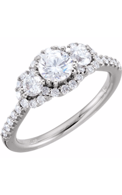 Sharif Essentials Collection Three Stones Engagement Ring 67390 product image