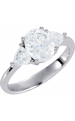 Princess Jewelers Collection Three Stones Engagement Ring 121907 product image