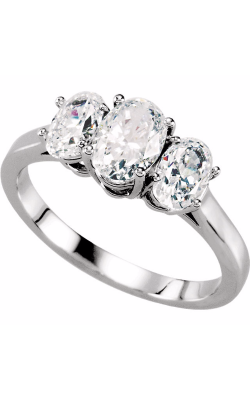 Stuller Three Stone Engagement Ring 121684 product image