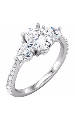 Sharif Essentials Collection Three Stones Engagement Ring 68875 product image