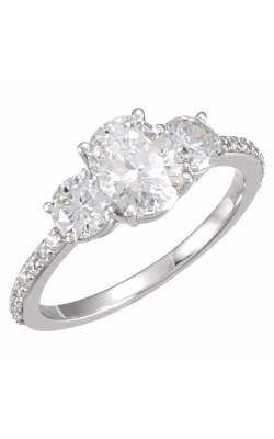 Sharif Essentials Collection Three Stones Engagement Ring 121867 product image