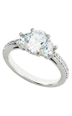 Princess Jewelers Collection Three Stones Engagement Ring 68082 product image