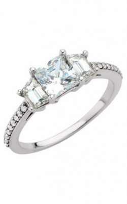 Sharif Essentials Collection Three Stones Engagement Ring 67784 product image