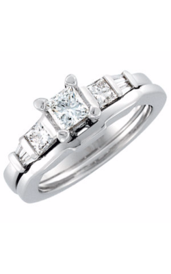Sharif Essentials Collection Three Stones Engagement Ring 64921 product image