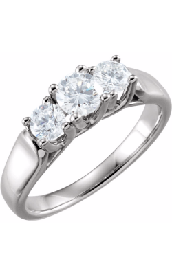 Sharif Essentials Collection Three Stones Engagement Ring 64925 product image