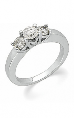 Sharif Essentials Collection Three Stones Engagement Ring 62340 product image