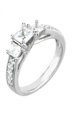 Sharif Essentials Collection Three Stones Engagement Ring 64722 product image