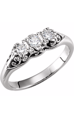 Sharif Essentials Collection Three Stones Engagement Ring 60200 product image