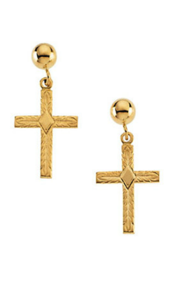 Fashion Jewelry By Mastercraft Religious And Symbolic Earring R16558 product image