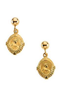 Fashion Jewelry By Mastercraft Religious And Symbolic Earring R16507 product image