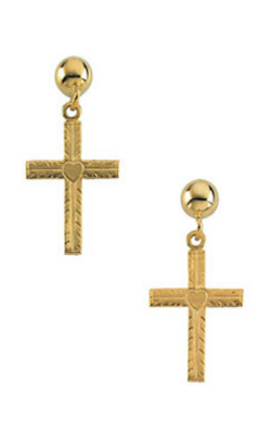 Fashion Jewelry By Mastercraft Religious And Symbolic Earring R16544 product image