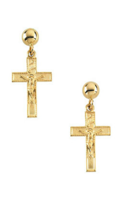 Fashion Jewelry By Mastercraft Religious And Symbolic Earring R16542 product image