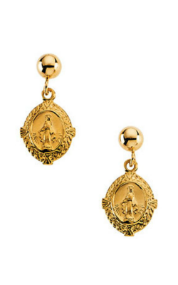 Fashion Jewelry By Mastercraft Religious And Symbolic Earring R16510 product image