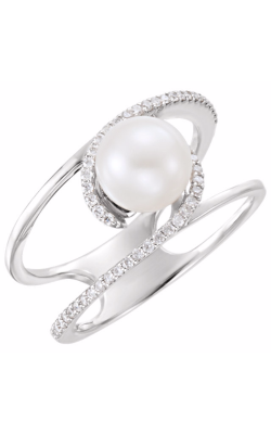 Fashion Jewelry By Mastercraft Pearl Fashion Ring 6489 product image