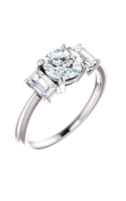 Stuller Three Stone Engagement Ring 121986 product image