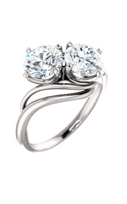 Stuller Two-Stone Engagement Ring 123136 product image