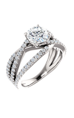Stuller Sidestone Engagement Ring 123151 product image