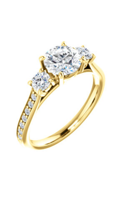 Stuller Three Stone Engagement Ring 122875 product image