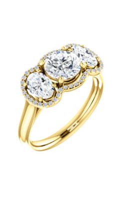 Stuller Three Stone Engagement Ring 71602 product image