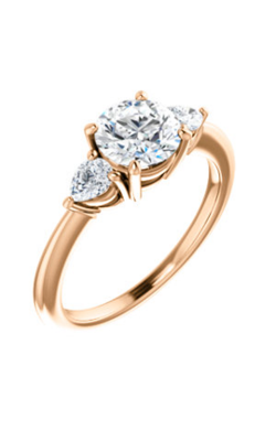 Stuller Three Stone Engagement Ring 122924 product image