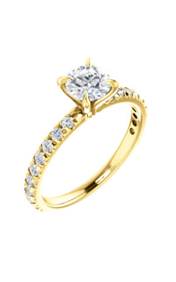 Stuller Sidestone Engagement Ring 123229 product image