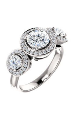 Stuller Three Stone Engagement Ring 122053 product image