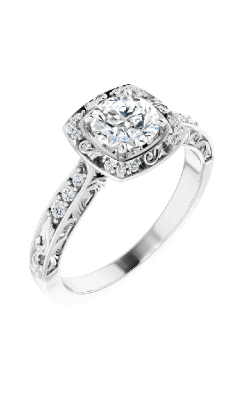 Sharif Essentials Collection Halo Engagement Ring 121981 product image